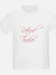 retired-teacher-scriptina-red T-Shirt