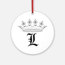 Crown L Ornament (Round)