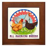 All American Breeds Framed Tile