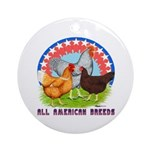 All American Breeds Ornament (Round)