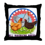 All American Breeds Throw Pillow