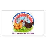 All American Breeds Rectangle Sticker