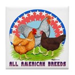 All American Breeds Tile Coaster