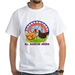 All American Breeds White T-Shirt