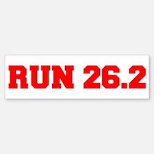 run-26.2-freshman-red Bumper Bumper Bumper Sticker