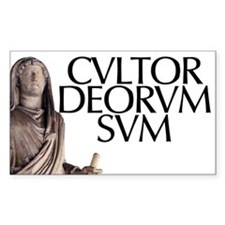 Cultor Deorum Rectangle Decal