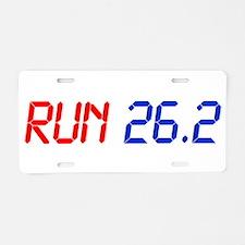 run-26.2-lcd Aluminum License Plate