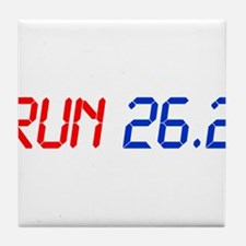 run-26.2-lcd Tile Coaster