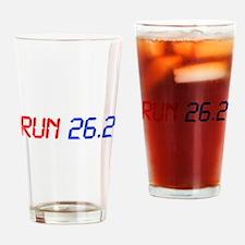 run-26.2-lcd Drinking Glass