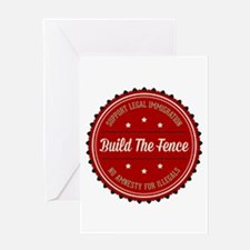 Build The Fence Greeting Card