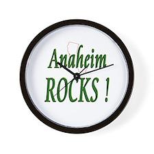 Anaheim Rocks ! Wall Clock
