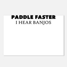 PADDLE FASTER I HEAR BANJOS Postcards (Package of