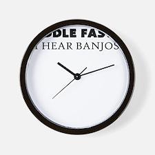 PADDLE FASTER I HEAR BANJOS Wall Clock