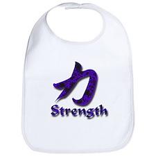 Strength in English/Kanji Pur Bib