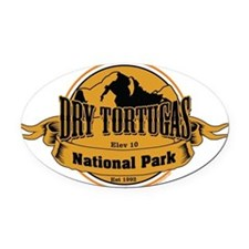 dry tortugas 3 Oval Car Magnet