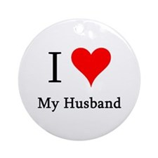 I Love My Husband Ornament (Round)