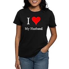 I Love My Husband Women's Black T-Shirt