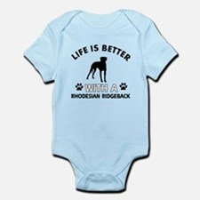Life is better with Rhodesian Ridgeback Infant Bod