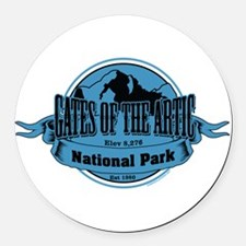 gates of the artic 3 Round Car Magnet