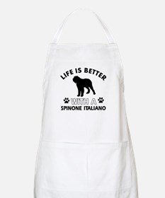Life is better with Spinone Italiano Apron