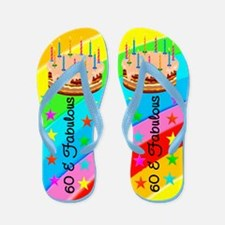 COLORFUL 60TH Flip Flops