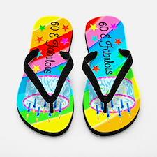 DAZZLING 60TH Flip Flops
