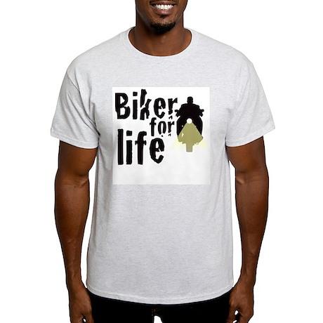 Biker for life Ash Grey T-Shirt