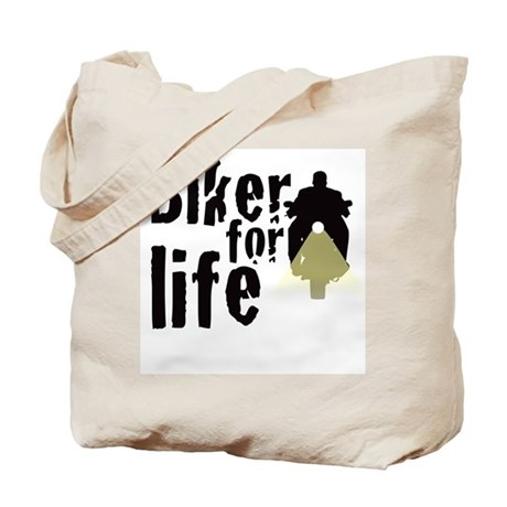 Biker for life Tote Bag