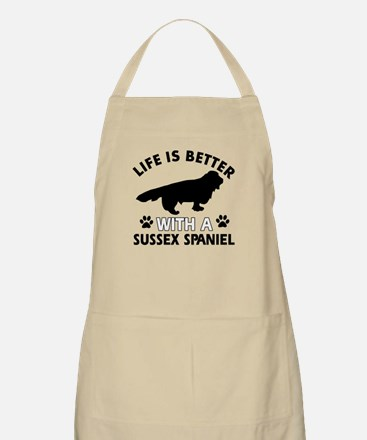 Life is better with Sussex Spaniel Apron