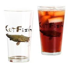 Catfish side font Drinking Glass