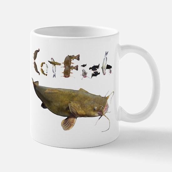 Catfish side font Mug