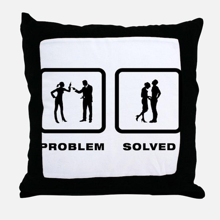 Manhood Check Throw Pillow