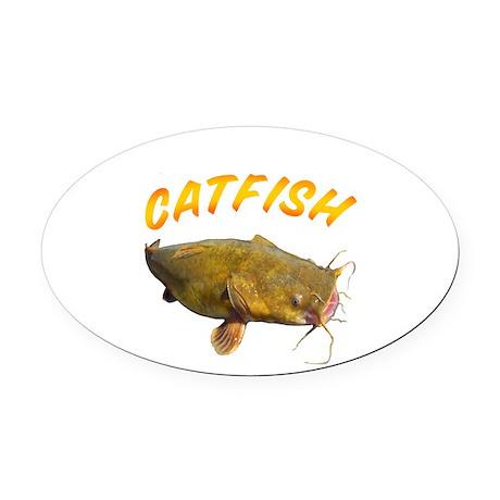 Catfish side Oval Car Magnet