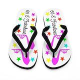 65th birthday Flip Flops