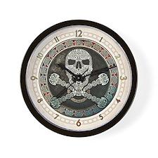 Celtic Knotwork Skull & Crossbones Wall Clock