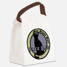 Retro Alley Cat Jazz Bar Canvas Lunch Bag
