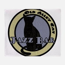 Retro Alley Cat Jazz Bar Throw Blanket