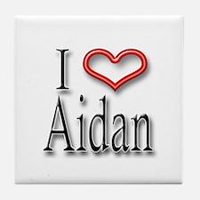 I Heart Aidan Tile Coaster