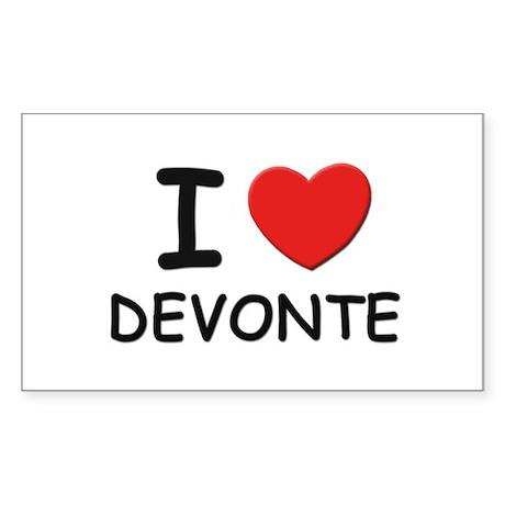 I love Devonte Rectangle Sticker