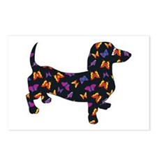 Butterfly Doxie Dachshund Postcards (Package of 8)