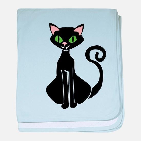 Retro Black Cat baby blanket