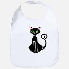 Retro Black Cat Bib