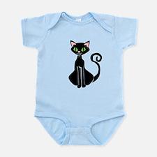 Retro Black Cat Infant Bodysuit