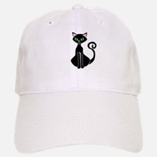 Retro Black Cat Baseball Baseball Cap
