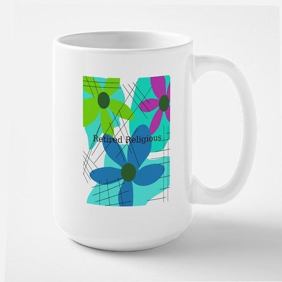 retired religious 6 floral Mug