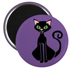 Retro Black Cat Magnet