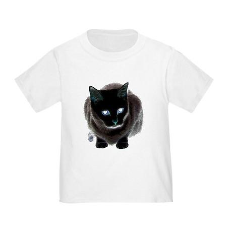 Black Cat Blue Toddler T-Shirt
