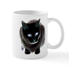 Black Cat Blue Mug