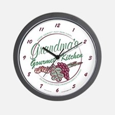 Grandma's Gourmet Kitchen Wall Clock