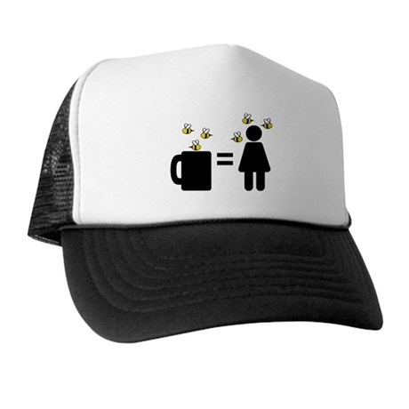 Coffee Woman Covered In Bees Trucker Hat